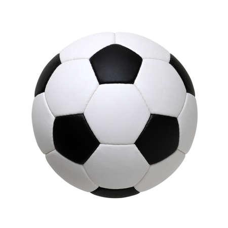 Fußball isoliert auf weißem Hintergrund
