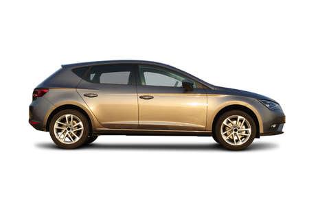 generic car, studio shot isolated on white background