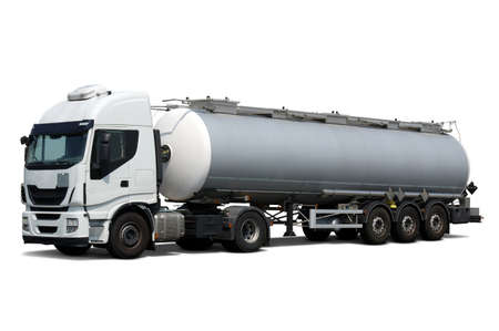 Fuel Tanker Truck isolated on white