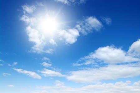 sun on blue sky backgrounds Reklamní fotografie