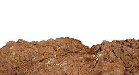 rock isolated on white background Banco de Imagens