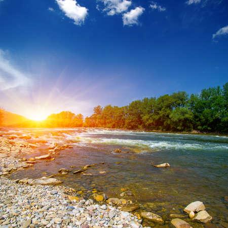 River water and sunset landscape Banque d'images - 120345077