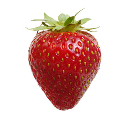 Strawberry isolated on white background. Clipping Path Banque d'images - 120345078