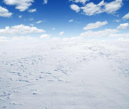 winter landscape background of snow and sky Stock fotó