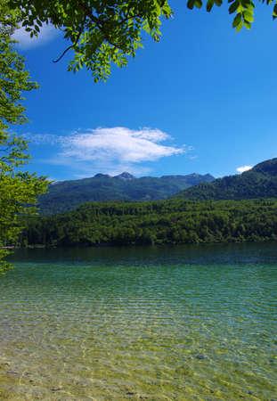 Landscape Bohinj Lake,with clear water.Triglav National Park, Julian Alps, Slovenia,Europe. Stock fotó