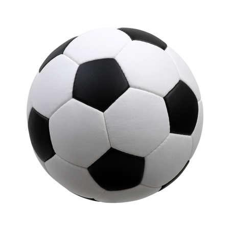soccer ball isolated on white Stockfoto