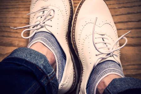 vintage background: Vintage shoes background