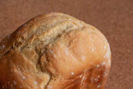 Whole loaf of white bread close up