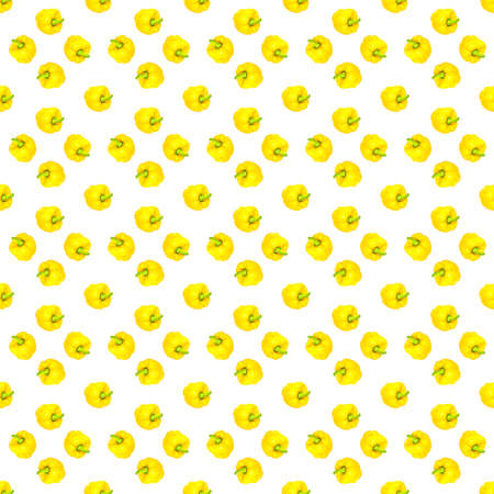 Seamless pattern from yellow bell peppers.