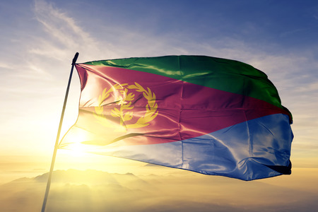Eritrea flag textile cloth waving