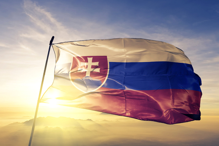 Slovakia flag textile waving