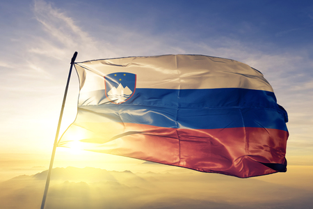 Slovenia flag textile cloth waving