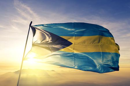 Bahamas flag textile cloth waving