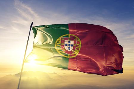 Portugal flag textile cloth waving