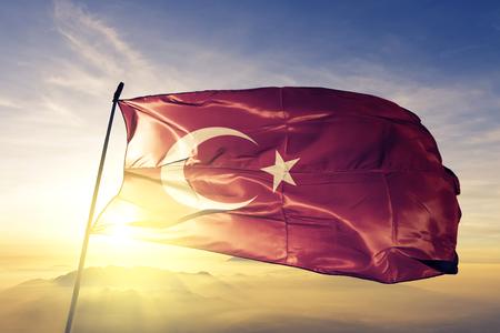Turkey flag textile cloth waving