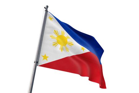 Philippines  flag waving isolated on white background Stock fotó