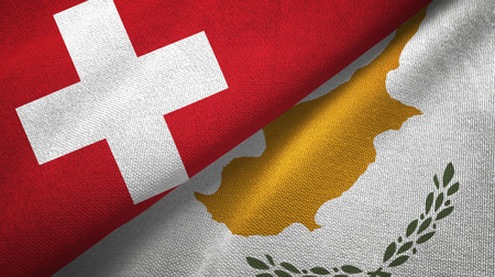 Switzerland and Cyprus textured flags