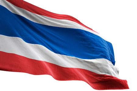 Thailand flag waving isolated on white background 3D illustration