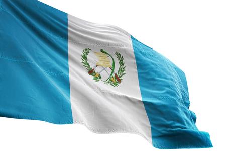 Guatemala flag waving isolated on white background 3D illustration Stock Photo