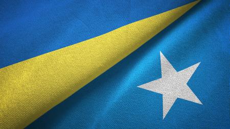 Ukraine and Somalia two folded flags together