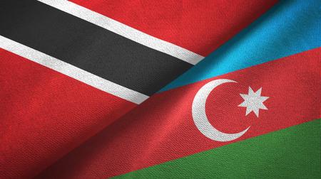Trinidad and Tobago and Azerbaijan two flags textile cloth, fabric texture Stock Photo