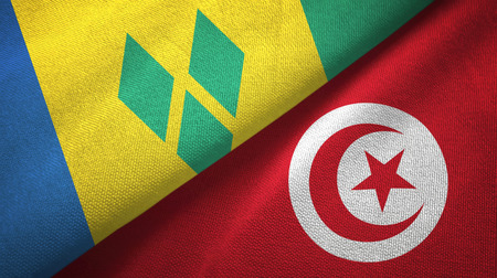 Saint Vincent and the Grenadines and Tunisia two flags