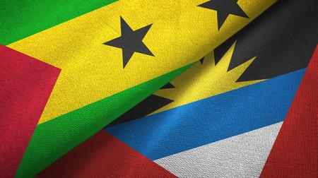 Sao Tome and Principe and Antigua and Barbuda two flags