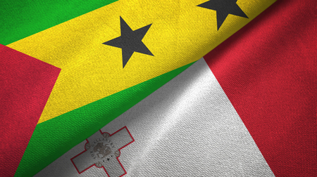 Sao Tome and Principe and Malta two flags