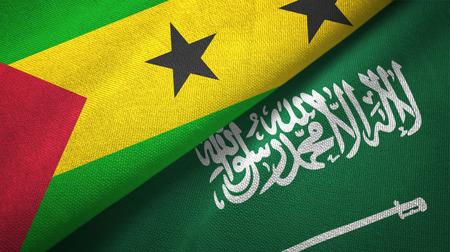 Sao Tome and Principe and Saudi Arabia flags