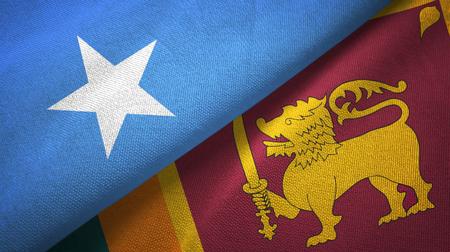 Somalia and Sri Lanka two flags textile cloth, fabric texture