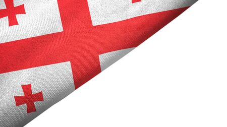 Georgia flag isolated on white background placed on the left side with blank copy space 写真素材