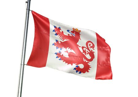 St. Vith of Belgium flag waving isolated on white background realistic 3d illustration