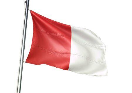 Limbourg of Belgium flag waving isolated on white background realistic 3d illustration Stock Illustration - 128867400