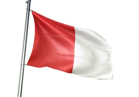 Limbourg of Belgium flag waving isolated on white background realistic 3d illustration