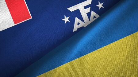 French Southern and Antarctic Lands and Ukraine flags together
