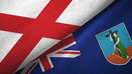 Northern Ireland Saint Patrick's Saltire and Montserrat two folded flags