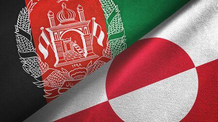 Afghanistan and Greenland two folded flags together Zdjęcie Seryjne - 137465793