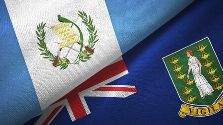 Guatemala and Virgin Islands British two folded flags together