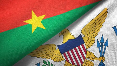 Burkina Faso and Virgin Islands United States two folded flags together