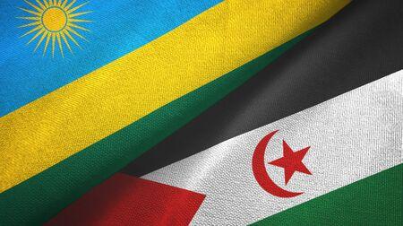 Rwanda and Western Sahara two folded flags together