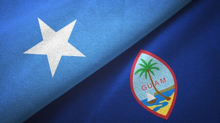 Somalia and Guam two folded flags together Zdjęcie Seryjne