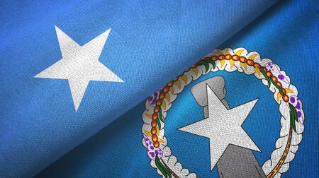 Somalia and Northern Mariana Islands two folded flags together