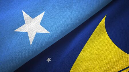 Somalia and Tokelau two folded flags together