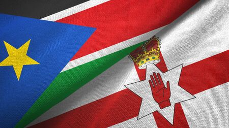 South Sudan and Northern Ireland two folded flags together