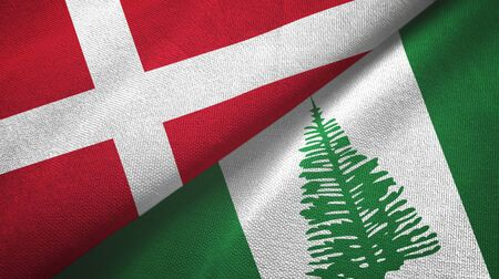 Denmark and Norfolk Island two folded flags together