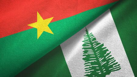 Burkina Faso and Norfolk Island two folded flags together