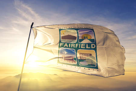 Fairfield of California of United States flag waving
