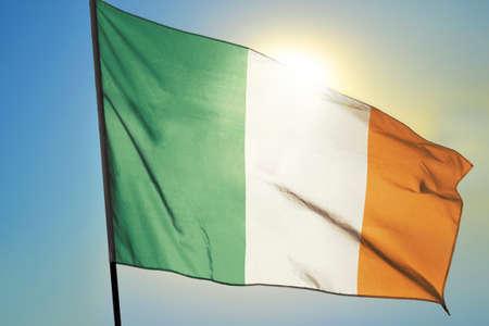 Ireland flag waving on the wind Stok Fotoğraf - 166479984