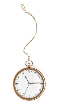pocket watch on white background. 3d rendered image