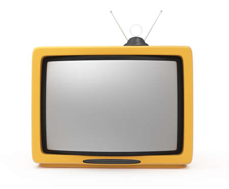 retro tv on white. 3d rendered image photo